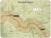 TX tribal map
